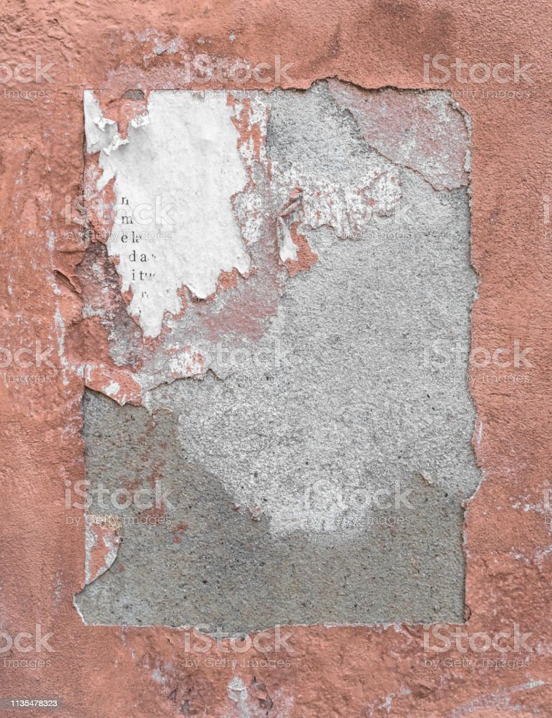 Wall frame, frame torn. Ideal for creative backgrounds.