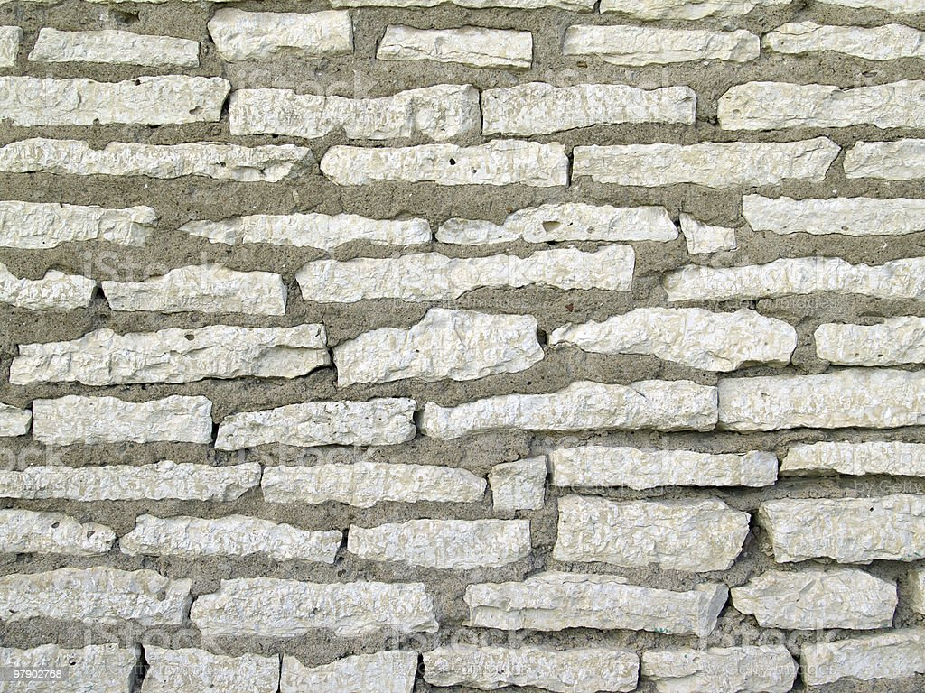 Wall from a stone royalty-free stock photo