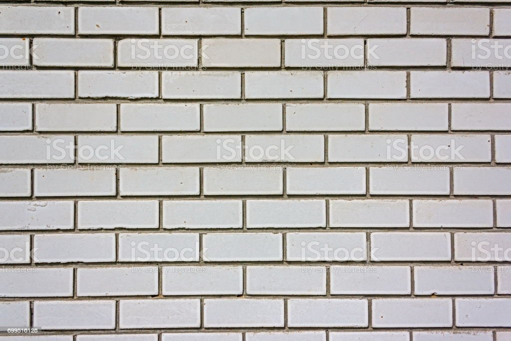 Wall from a white silicate brick. stock photo