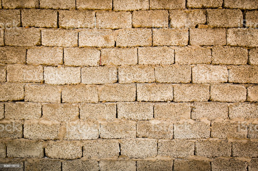 Wall from cinder block as a background stock photo