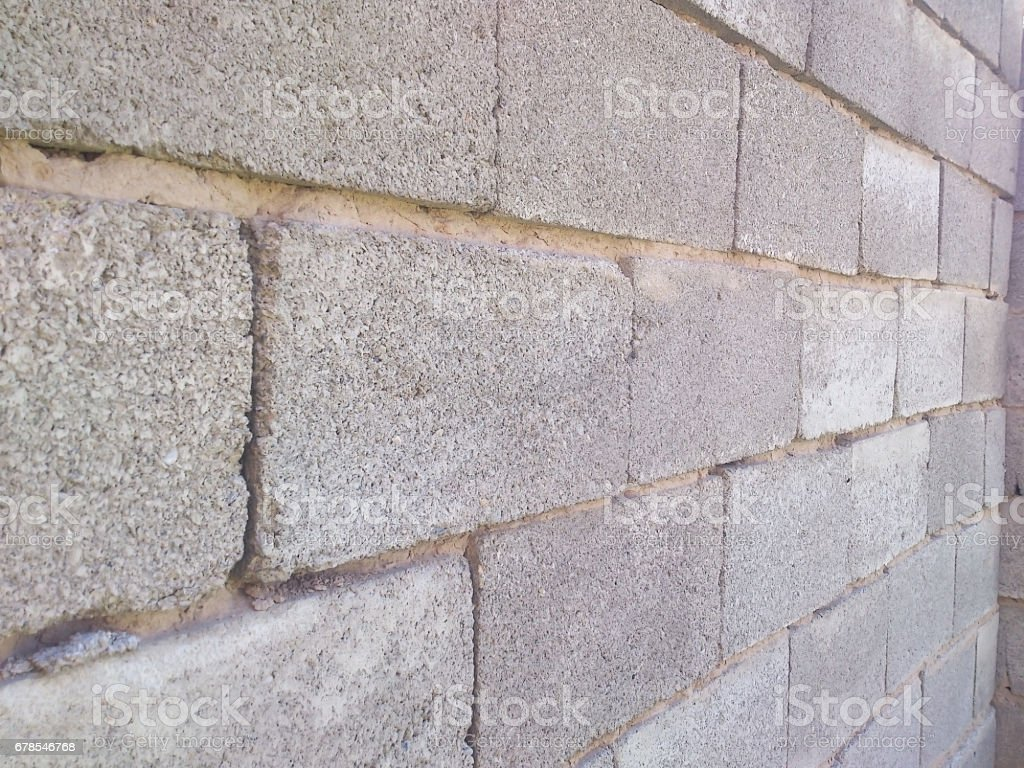 Wall from cinder block. stock photo