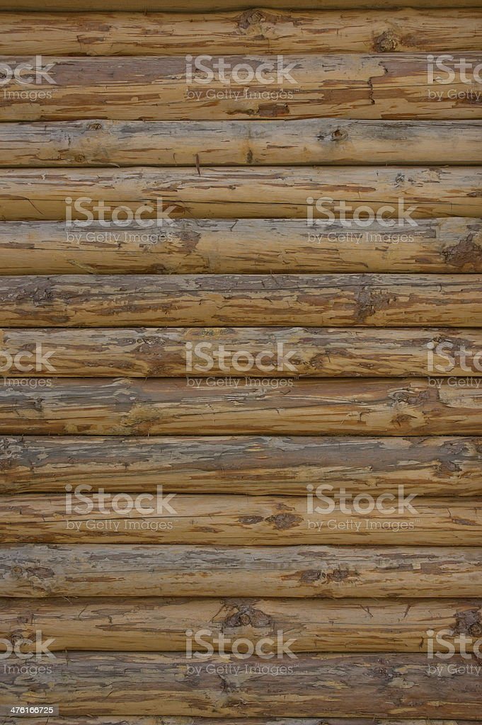 Wall from logs royalty-free stock photo