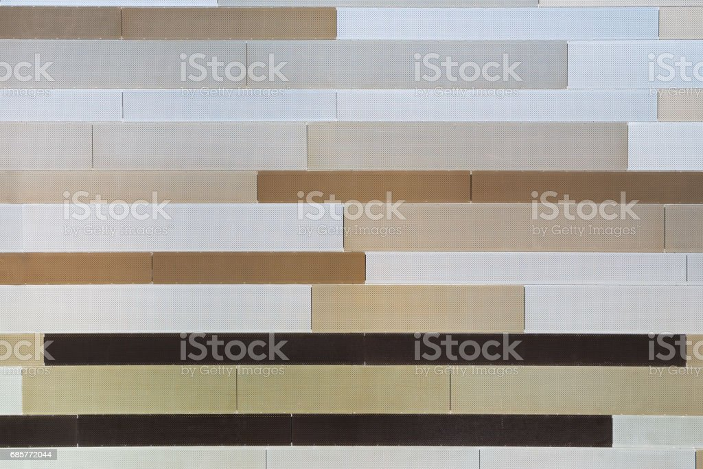 Wall from metal stripes royalty-free stock photo