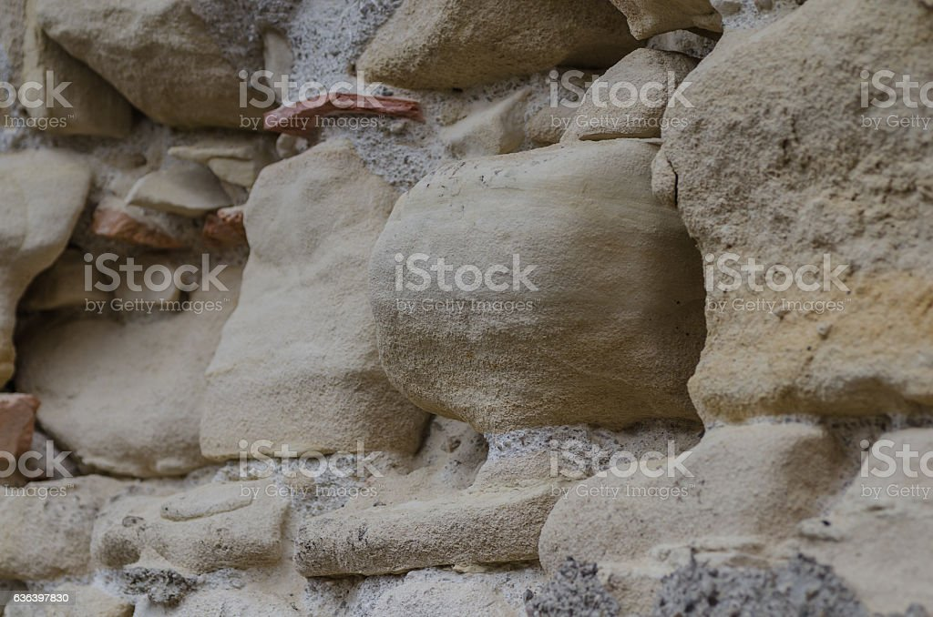 wall from sandstone stock photo