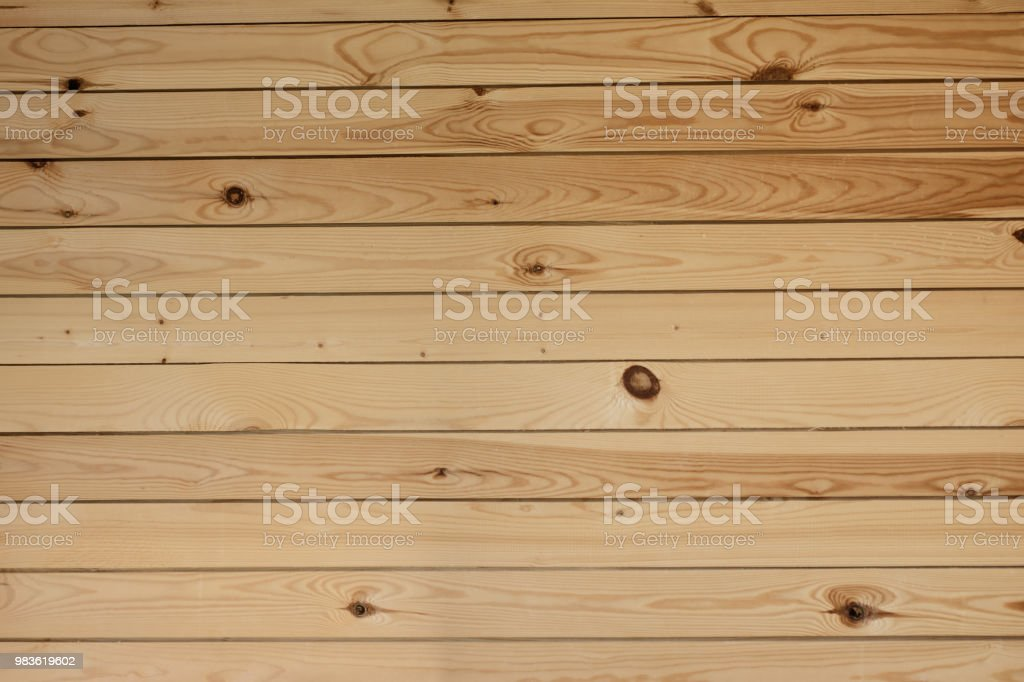 Wall From Wooden Boards A Background Horizontal Stock Photo