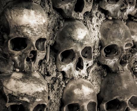 istock Wall full of skulls and bones 187570922