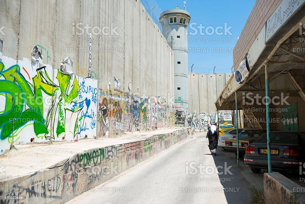 Wall in Bethlehem royalty-free stock photo
