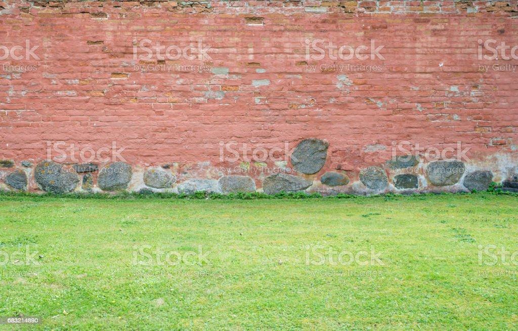 정원이 나 공원에 벽 royalty-free 스톡 사진