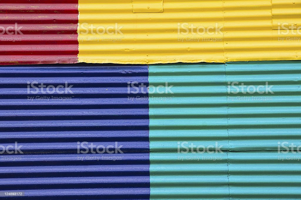 Wall in La Boca, Buenos Aires stock photo