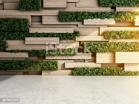 istock Wall in modern interior 637502322