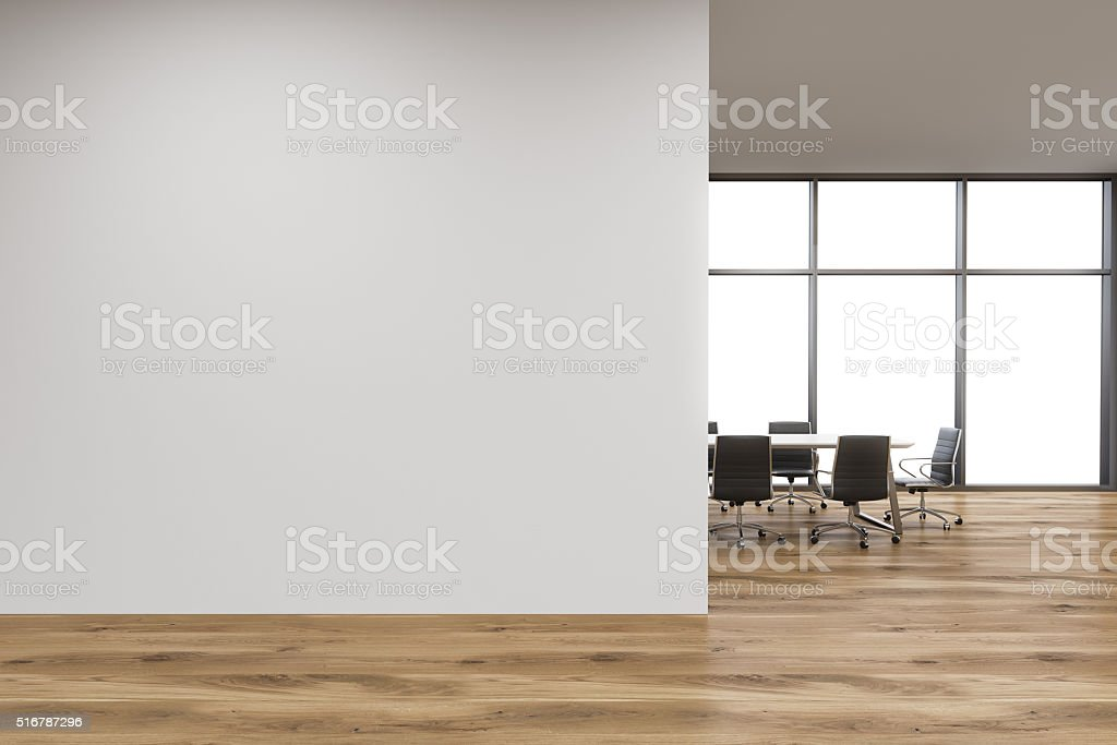 Pared de oficina, ventana - foto de stock