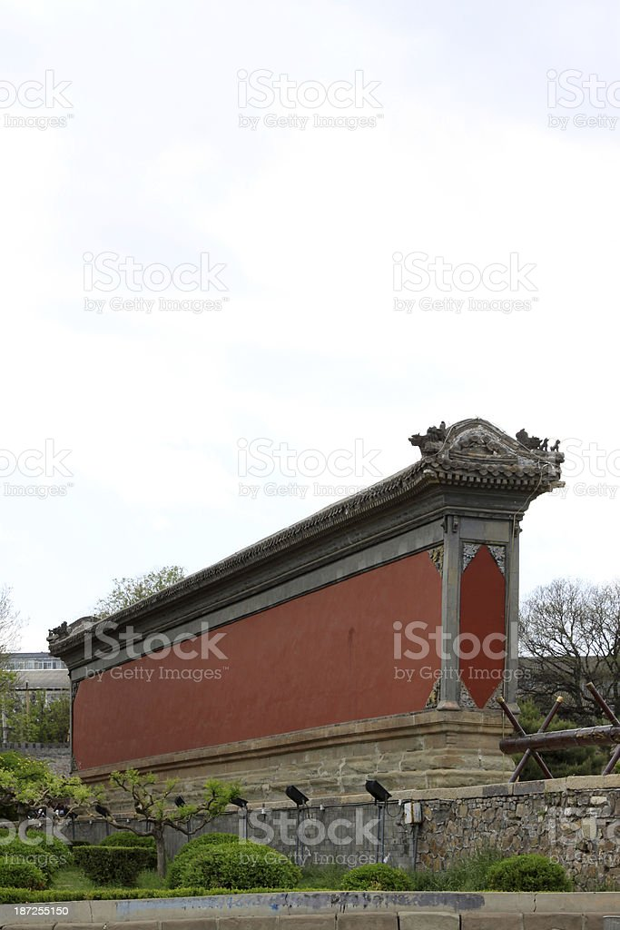 wall in the Chinese ancient garden stock photo