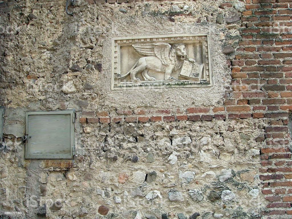 Wall in Verona Italy stock photo