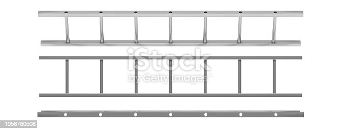 1048837520 istock photo Wall ladder model isolated cutout on white background. 3d illustration 1056780508