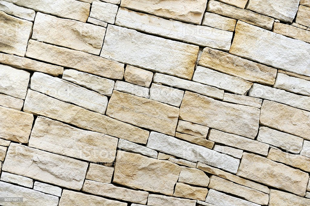 Wall made from sandstone bricks royalty-free stock photo