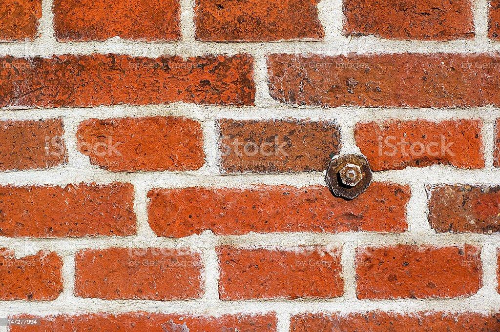 Wall made of bricks - detail stock photo