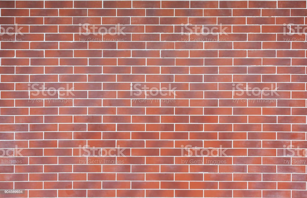 Wall made of modern facing brick as a background or a backdrop stock photo