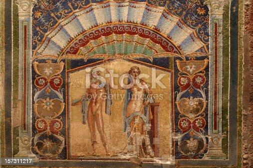 860524946 istock photo Wall Mosaic of Neptune and Amphitrite from Herculaneum 157311217