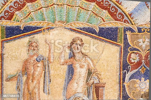 860524946 istock photo Wall Mosaic of Neptune and Amphitrite from Herculaneum 482748415