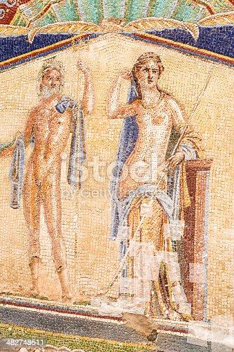 860524946 istock photo Wall Mosaic of Neptune and Amphitrite from Herculaneum 482748511