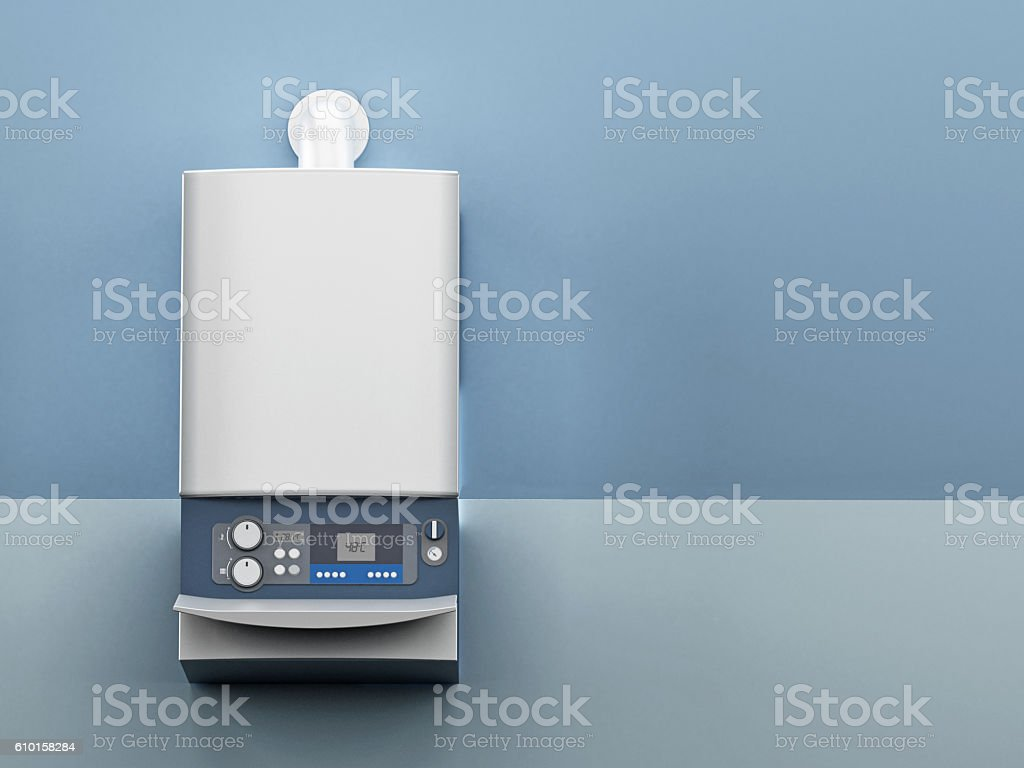 Wall mounted generic boiler - foto de stock