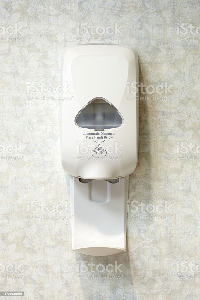 Wall Mounted Liquid Hand Sanitizer Soap Dispenser stock photo