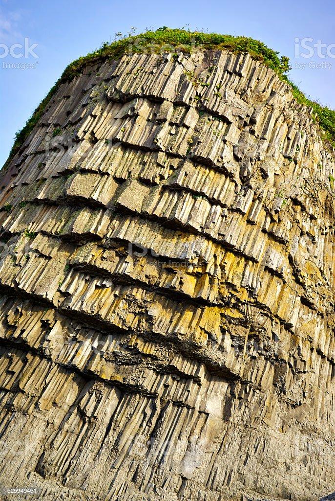 Wall natural rock grass stock photo
