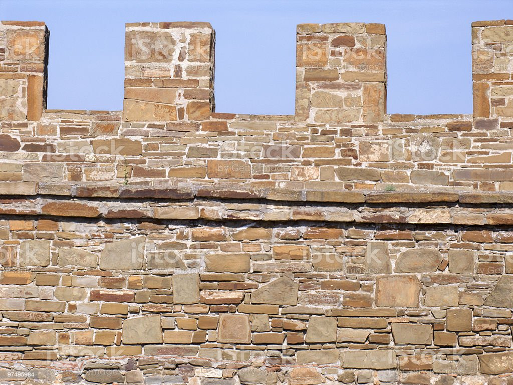Wall of a fortress royalty-free stock photo
