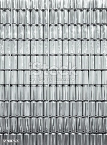 istock Wall of Aluminum Cans Texture 687692690