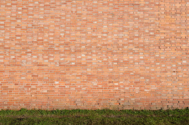 wall of brick stock photo