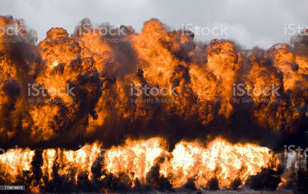 Wall Of Fire royalty-free stock photo