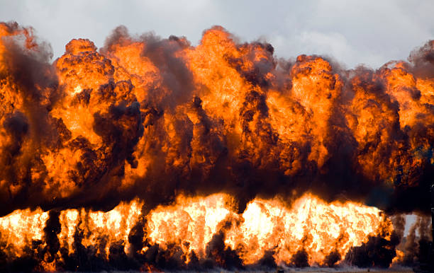 Wall Of Fire stock photo
