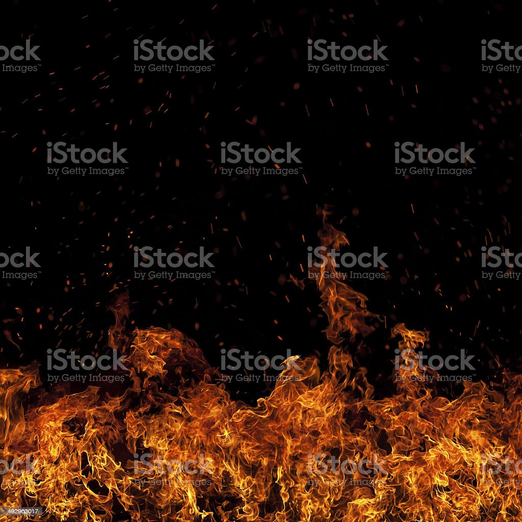 XXXL Wall of fire stock photo