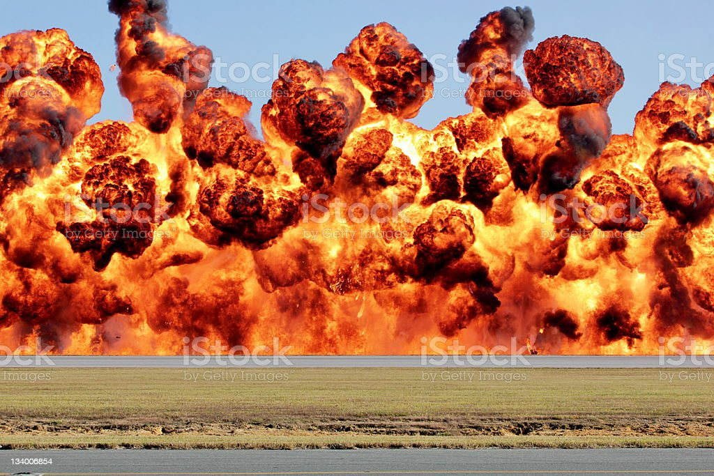 Wall of Flame stock photo