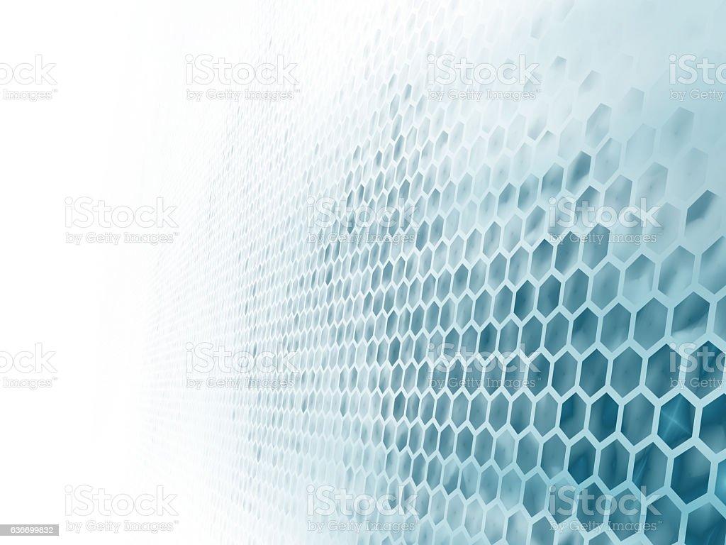 wall of hexagons stock photo