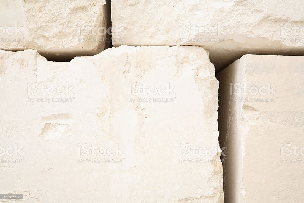 Wall of Huge Limestone Blocks royalty-free stock photo
