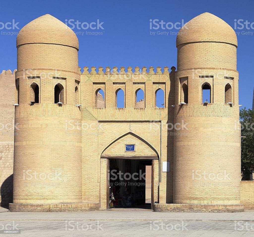 wall of Itchan Kala - Khiva - Uzbekistan royalty-free stock photo