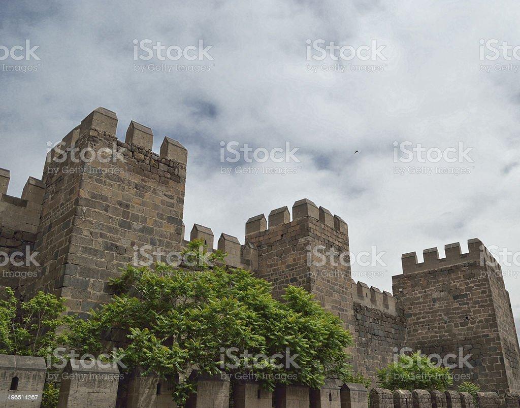 Wall of Kayseri city stock photo