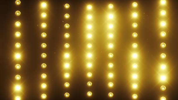 A wall of light projectors, a flash of light 3d illustration A wall of light projectors, a flash of light 3d illustration stage light stock pictures, royalty-free photos & images