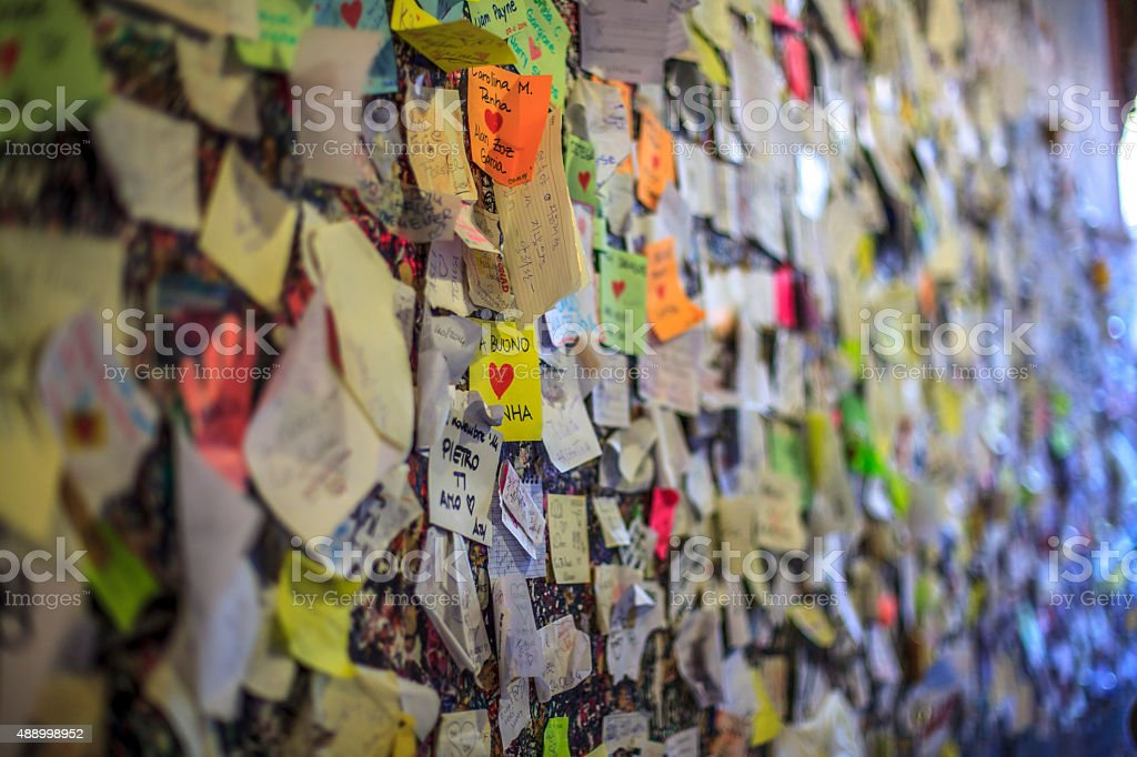 Wall of Love stock photo