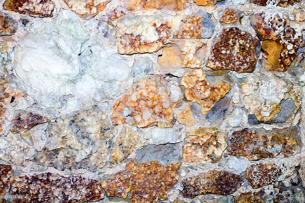 Wall of mineral stock photo
