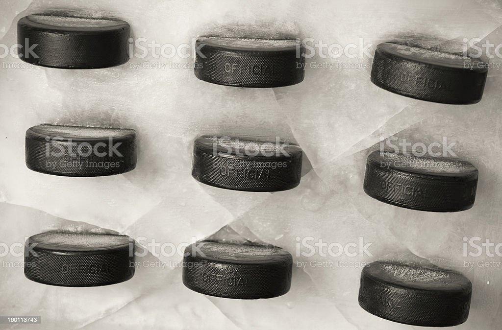 Wall of Pucks royalty-free stock photo