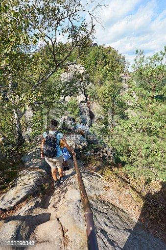 """istock Wall of Rocks called """"Schrammsteine"""" 1282298343"""