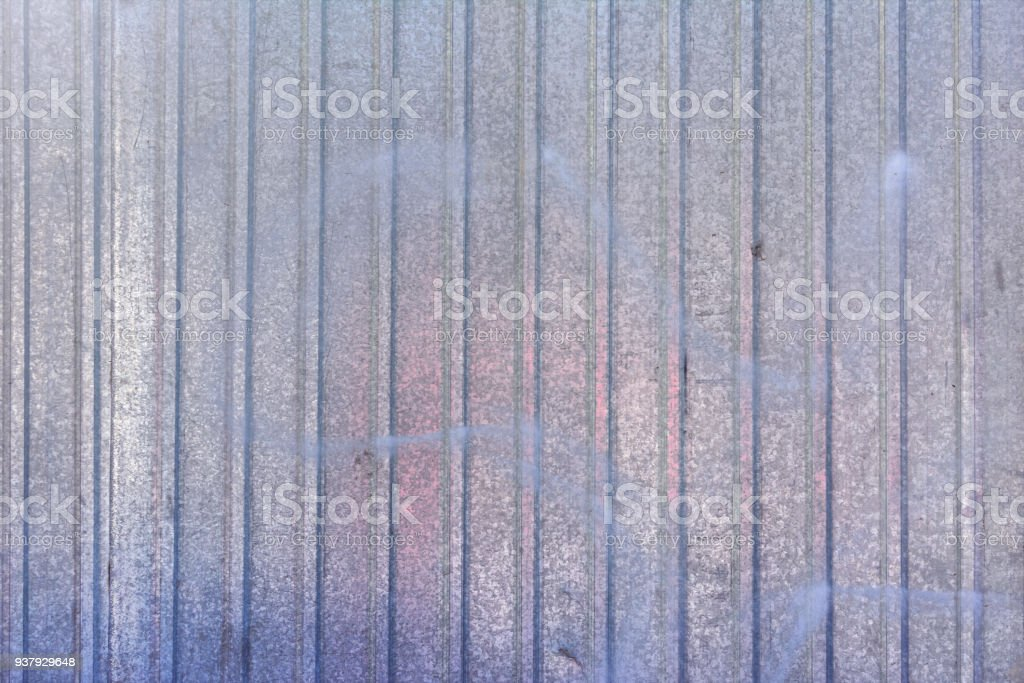 Wall Of Sheet Metal Blank Background With Colored Blue Overflows ...