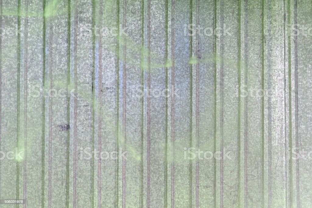 Wall Of Sheet Metal Blank Background With Colored Green Overflows ...