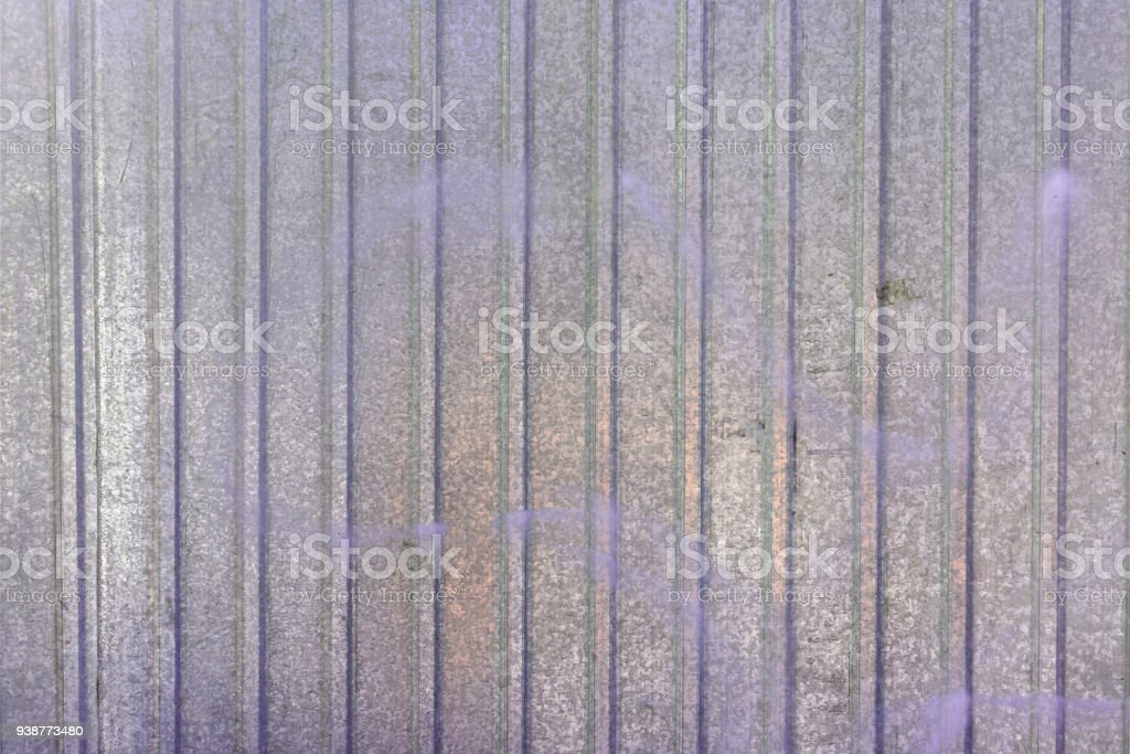 Wall Of Sheet Metal Blank Background With Colored Lilac Overflows ...