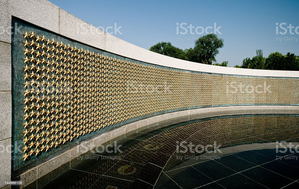 Wall of stars detail royalty-free stock photo