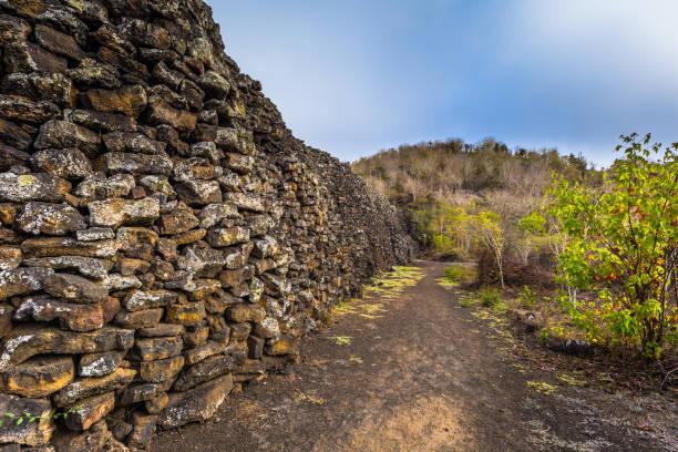 Galapagos Inseln - 25. August 2017: Wall of Tears in Isabela Island, Galapagos-Inseln, Ecuador – Foto