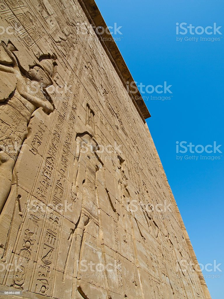 wall of the Hathor temple,Dendera,near Luxor,Egypt royalty-free stock photo