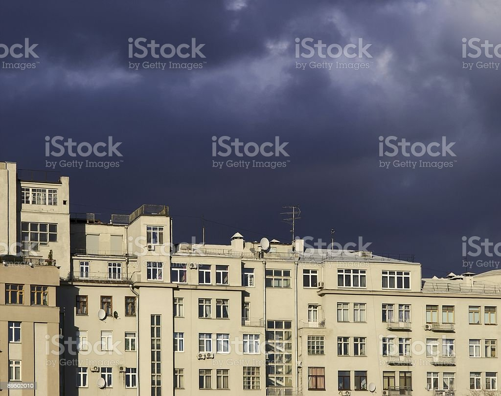 Wall of the house royalty-free stock photo